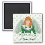 Irischer Engel und Fahne Kühlschrankmagnete