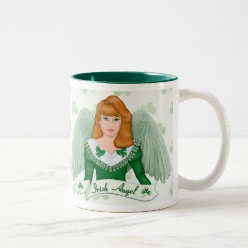 Irischer Engel und Fahne Teetassen