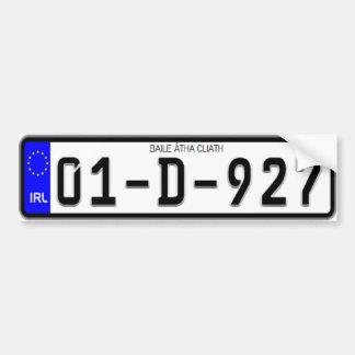 Irischer Eurolizenz-Platten-Autoaufkleber Autoaufkleber