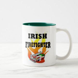Irischer Feuerwehrmann Zweifarbige Tasse
