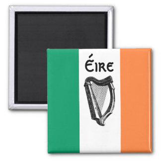 Irischer Flaggen-Magnet Quadratischer Magnet