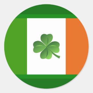 Irischer Flaggenaufkleber Runder Aufkleber