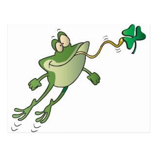 Irischer Frosch Postkarte