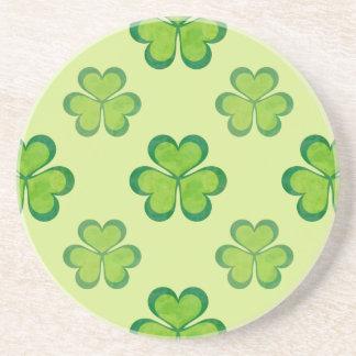 Irischer glücklicher Kleeblatt-Klee-nahtloses Untersetzer