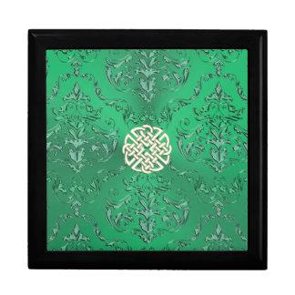 Irischer grüner Damast mit weißes Erinnerungskiste