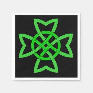 Irischer grüner keltischer Knoten Serviette