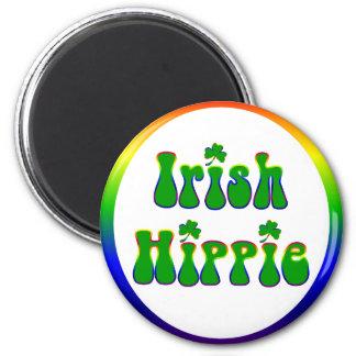 Irischer Hippie rund Runder Magnet 5,7 Cm