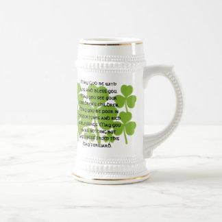 Irischer Hochzeits-Segen - besonders angefertigt Bierglas