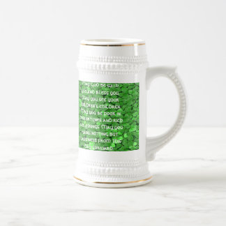 Irischer Hochzeits-Segen - besonders angefertigt - Bierglas