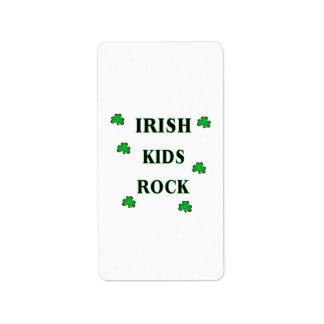 Irischer Kinderfelsen Adressaufkleber