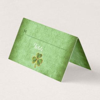 Irischer Klee u. Schleierhochzeit falteten Platzkarte