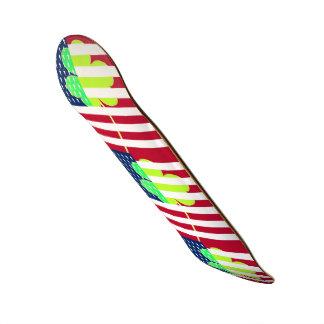 Irischer Kleeblatt-Klee-amerikanische Flagge St 18,1 Cm Old School Skateboard Deck