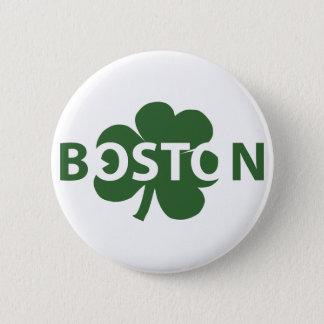 Irischer Kleeblatt-Knopf Bostons Runder Button 5,1 Cm