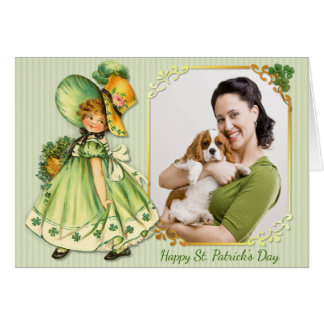 Irischer KleeblattStroll - personifizieren Sie Grußkarte