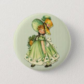 Irischer KleeblattStroll Runder Button 5,7 Cm