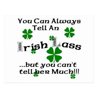 Irischer Lass - Sie können immer sagen. Postkarte