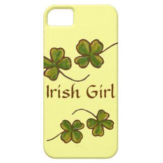 Irischer Mädchen-Klee-Kleeblätter iPhone Fall iPhone 5 Etuis