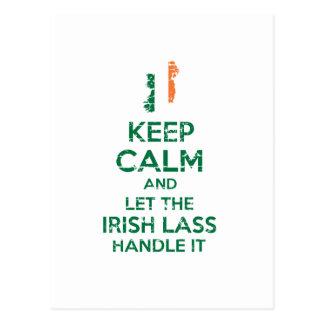 Irischer Mädchenentwurf Postkarte
