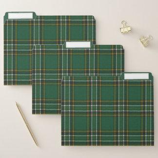 Irischer nationaler ursprünglicher Tartan Papiermappe
