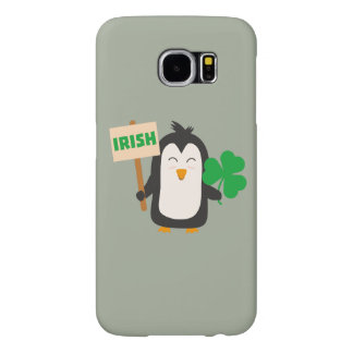 Irischer Penguin mit Kleeblatt Zjib4