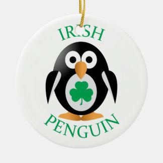 Irischer Pinguin Keramik Ornament