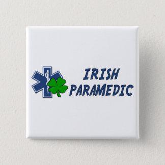 Irischer Sanitäter Quadratischer Button 5,1 Cm