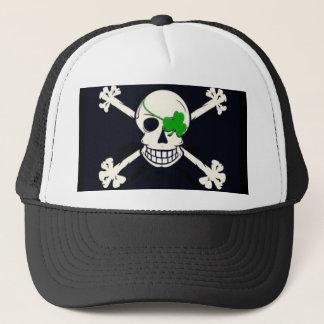 Irischer Schädel-Piratenflagge-Fernlastfahrer Truckerkappe