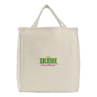 Irischer Schatz Bestickte Tragetasche