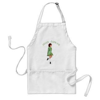 Irischer Schritt-Tänzer - Grün Schürze