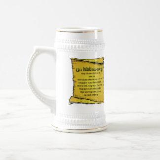 Irischer segnenStein Bierglas
