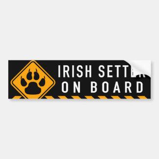 Irischer Setter an Bord Autoaufkleber