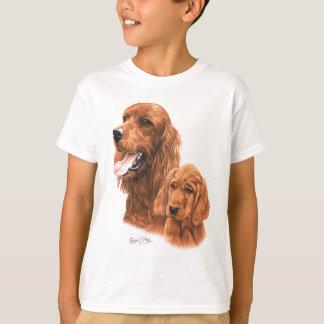 Irischer Setter u. Welpe T-Shirt