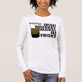 Irischer Whisky macht mich Frisky Langarm T-Shirt