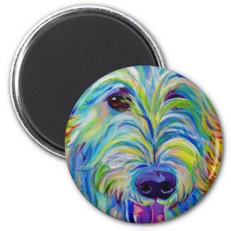 Irischer Wolfhound #1 Runder Magnet 5,7 Cm