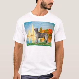 Irischer Wolfhound 2 - Segelboote 2 T-Shirt