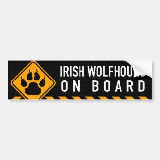 Irischer Wolfhound an Bord Autoaufkleber