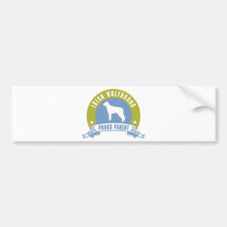 Irischer Wolfhound Autoaufkleber
