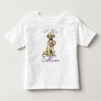 Irischer Wolfhound-Herz-Mamma Kleinkind T-shirt