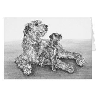 Irischer Wolfhound-Hunde, die durch Kelli Schwan Karte