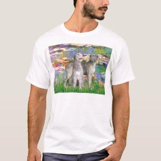 Irischer Wolfhound-Paare - Lilien 2 T-Shirt