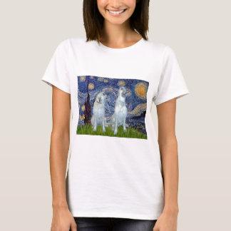 Irischer Wolfhound-Paare - sternenklare Nacht T-Shirt
