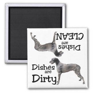 Irischer Wolfhound-Spülmaschinen-Magnet Quadratischer Magnet