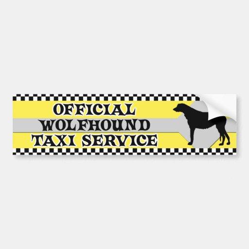 Irischer Wolfhound-Taxi-Service-Autoaufkleber