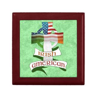 Irisches amerikanisches keltisches Kreuz Giftbox Schmuckschachtel