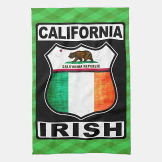 Irisches amerikanisches Tee-Tuch Kaliforniens Küchentuch