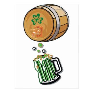 Irisches Bier-Fass Postkarten