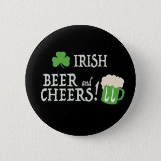 Irisches Bier und Beifall Runder Button 5,1 Cm