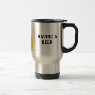 Irisches Bier und Kleeblatt Reisebecher