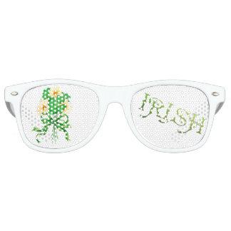 IRISCHES BLUMEN Party-erwachsene Retro Partybrille