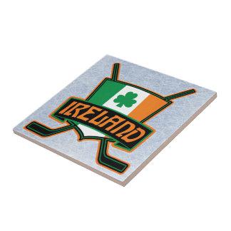 Irisches Eis-Hockey-Flaggen-Logo Fliese